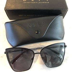 Diff Eyewear Becky Sunglasses Black Grey NWT